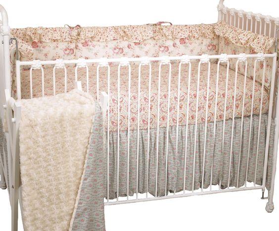 Cotton Tale Designs 4-Piece Crib Bedding Set, Tea Party, 1-Pack: Amazon.ca: Baby