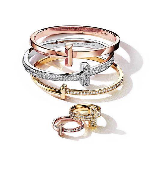 写真1 4 ティファニー t ワン ゴールド ダイヤモンドの新作ジュエリー t モチーフのリングなど 2020 ジュエリー ダイヤモンド ゴールド