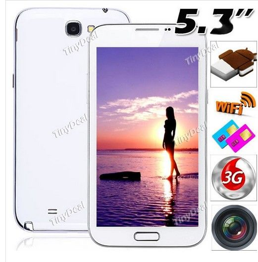 "http://www.tinydeal.com/es/haipai-53-android-411-mtk6577-3g-phone-8gb-rom-p-83024.html:(#HAIPAI) #N7102+ 5.3"" Capacitiva Tactíl Android 4.1.1 MTK6577 3G Smart Phone+ WiFi+ 12MP CAM"