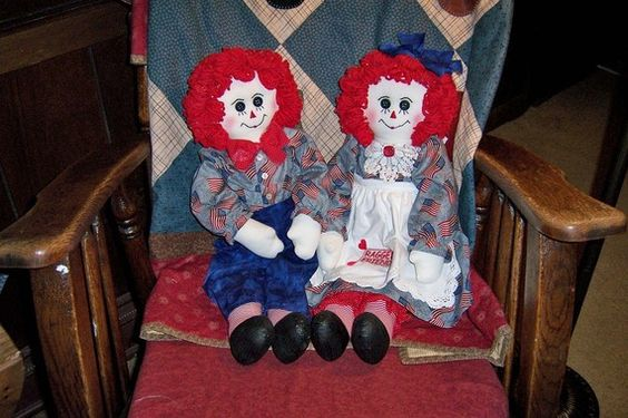 Raggedy Ann and Andy Americana by granniesraggedybags on Etsy, $55.00