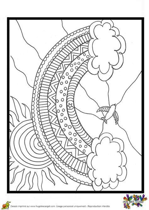 Arc En Ciel à Colorier : colorier, Couleurs,, Coloriage, Enfant, Mandala, Coloring, Pages,, Pages