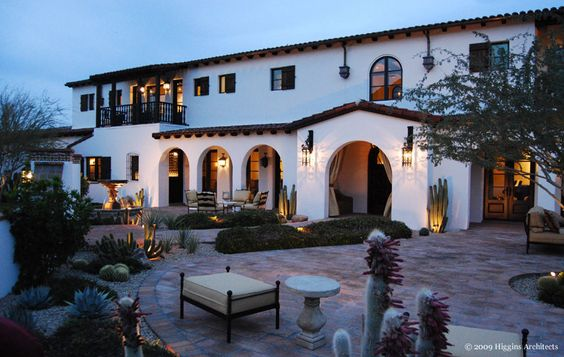 Spanish Colonial Design Style: Classic Mediterranean Charm : Spanish Home With Arched Doors Windows