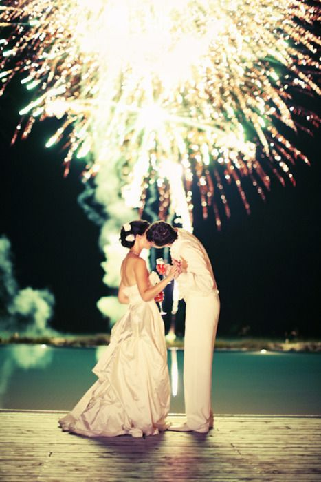 Fireworks. What a memorable wedding moment!