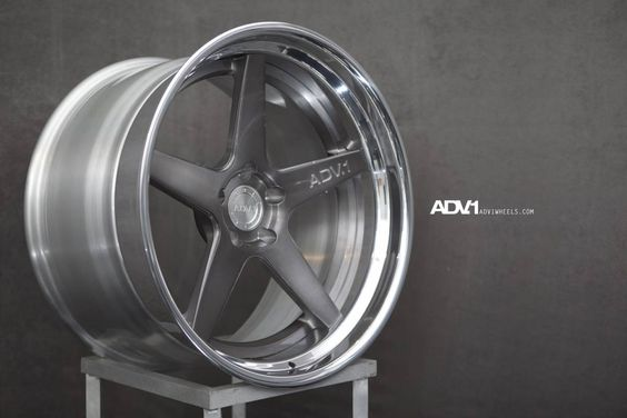 ADV5 Trackspec 3 Piece Forged Brushed Gunmetal face with Polished step lip