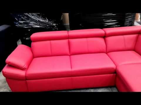 Red Corner Sofa With Storage And Reclining Headrests Youtube Corner Sofa With Storage Sofa Design Corner Sofa