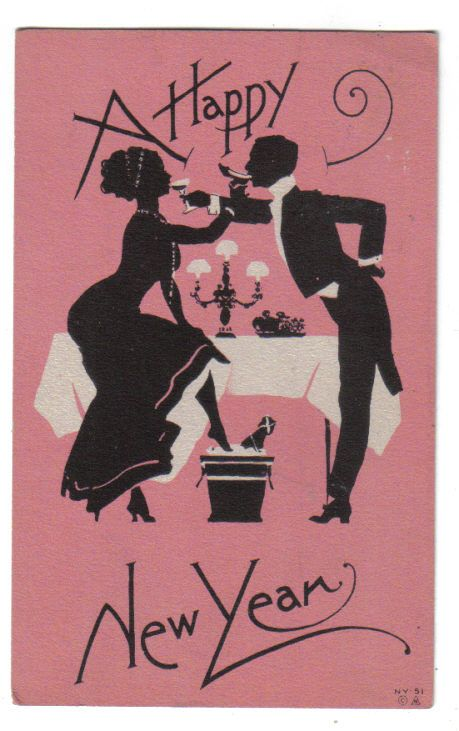 1913 Happy New Year postcard: