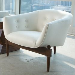 Mimi Chair - love: Living Rooms, Global Views, Views Mimi, Lounge Chairs, Mid Century, White Leather, Accent Chairs, Mimi Chair, Leather Chairs