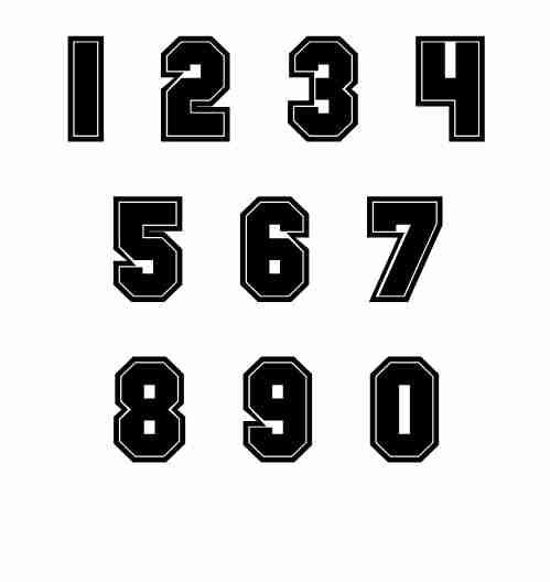 Football Jersey Number Font Numbers Font Football Numbers Number Fonts