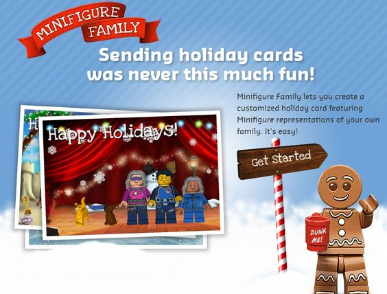 Minifigure Holiday Cards
