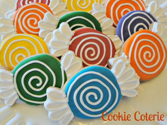 Sweet Shoppe Cookies Hard Candy Decorated Sugar Cookies Birthday Cookie Favors One Dozen