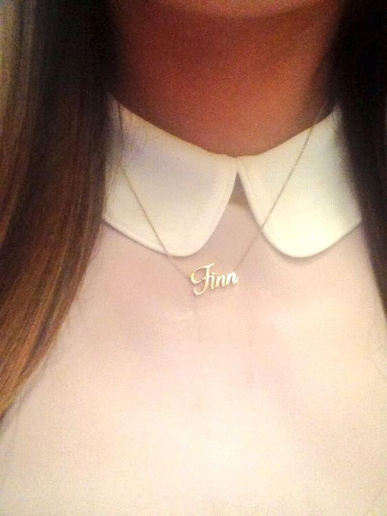 Rachel Berry Wears Finn Name Necklace