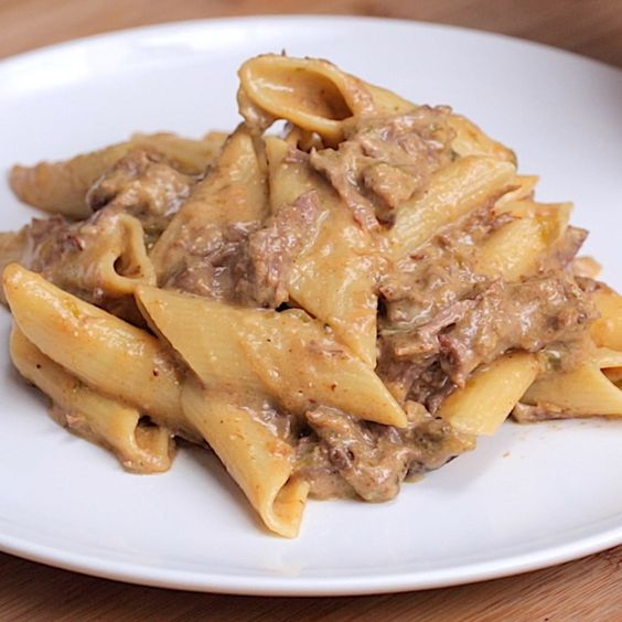 Philly Cheesesteak Pasta - Twisted: