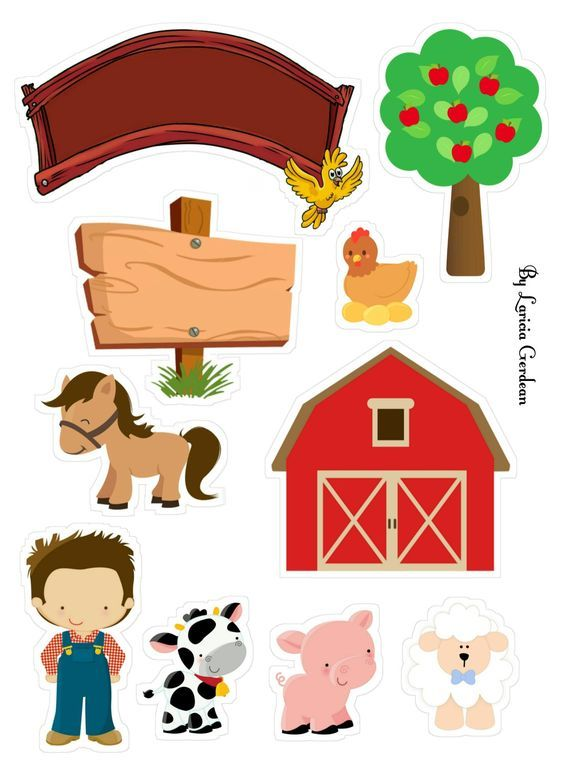 Topo De Bolo Fazendinha Para Imprimir Gratis Farm Animal Party
