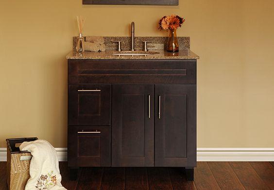 Discount RTA Java Vanity Bathroom Cabinets