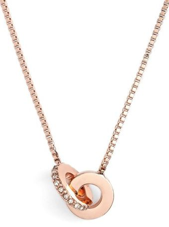 pretty rose gold mini infinity pendant necklace