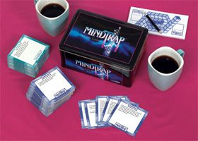 Mindtrap: Classic Edition: NPR Shop - contains 486 of the best classic puzzles, mysteries, conundrums and trick questions that made MindTrap a worldwide phenomenon.  A game that can be played as easily in your car as in your home…or wherever else you may want to exercise your mind. Ages 12+/2+ Players: Car, Classic Puzzles, Mindtrap Classic, Puzzle Games, Puzzles Mysteries, Npr Shop, My Games