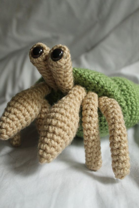 Crochet Amigurumi Crab : For the, The ojays and Hermit crabs on Pinterest
