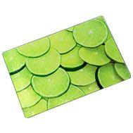 Tabua Alimentos Vidro Limões 20x30cm Verde - R$19,00