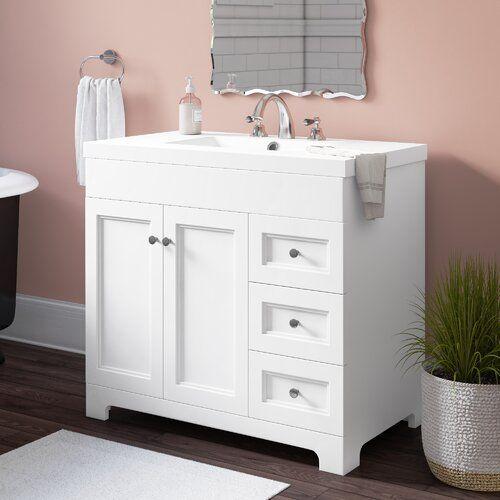 25+ White single vanity ideas