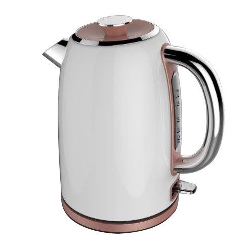 White and Rose Gold Jug Kettle