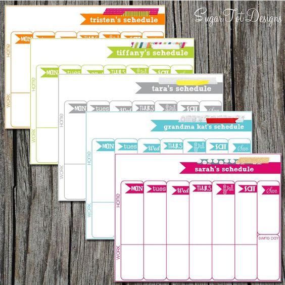 Weekly Calendar Template - Weekly Scheduler