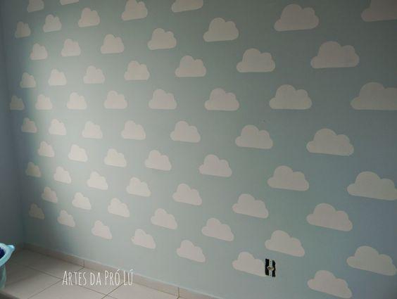 Artes da Pró Lú: Como fazer um stencil para decoração de paredes (quarto de bebê).