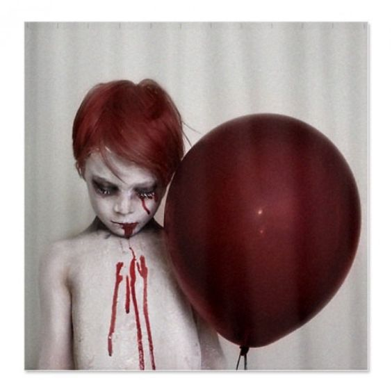 Goth Shower Curtain Part - 38: Red Ballon Zombie Goth Shower Curtain For Sale By Locked Illusions At  MoreThanHorror.com | Beautiful Eerie,Fantasy,Unique,Art U0026 Illusions |  Pinterest ...