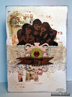 Artistic Outpost: Toy Emporium Mixed Media Card by Kate's Scrap Yard