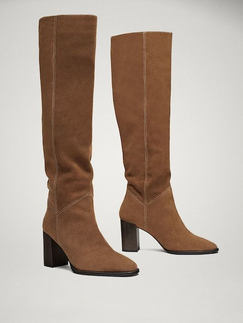 Boots, Leather high heel boots, Boot