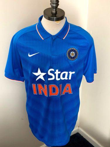 Star India Men S Nike Dri Fit Cricket Jersey Odi Team Blue Size 2xl Star India Nike Dri Fit Mens Tops