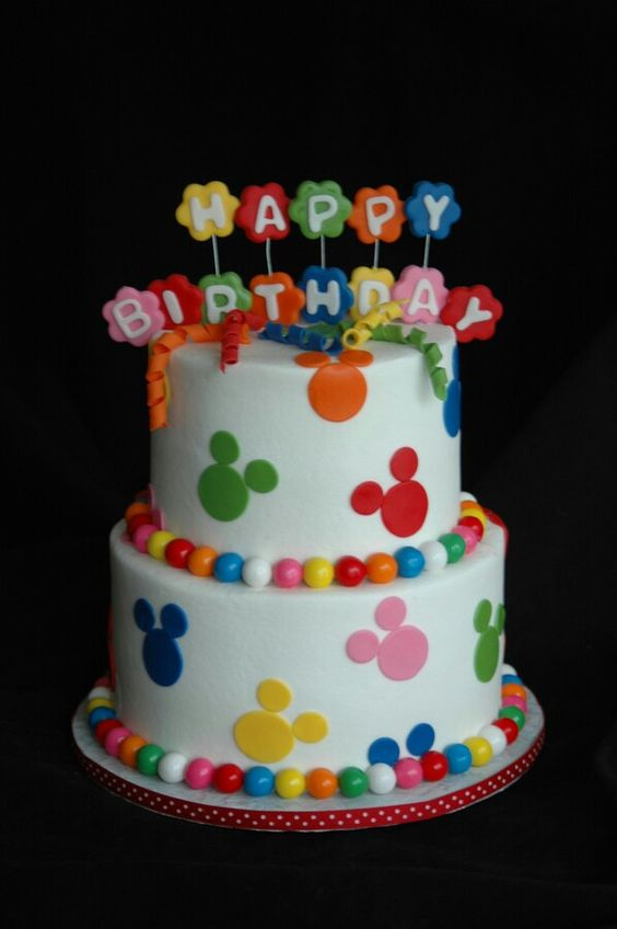 Happy Birthday Micky Mouse Cake With Name