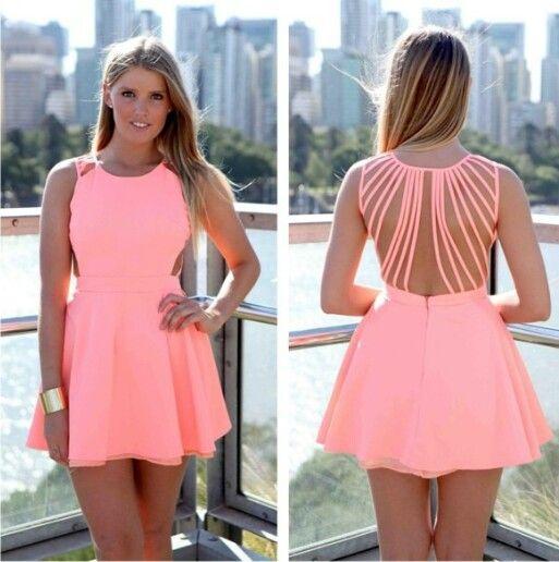 Neon pink dress - Dresses - Pinterest - Pink dress- Pink and Dresses
