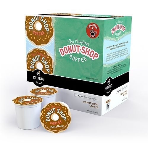 Coffee People Donut Shop Medium Roast Extra Bold, 18-Count/0.39oz. K-Cups for Keurig Brewers - http://thecoffeepod.biz/coffee-people-donut-shop-medium-roast-extra-bold-18-count0-39oz-k-cups-for-keurig-brewers/