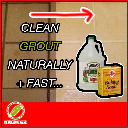 Home households and natural on pinterest - Clean tile grout efficiently ...