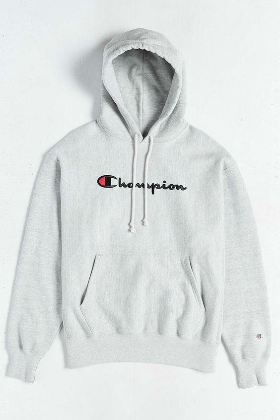 Champion White Hoodie - Trendy Clothes