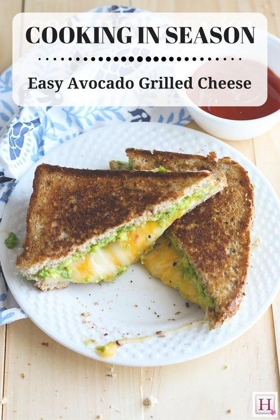 Avocado grilled cheeses, Grilled cheese sandwiches and Avocado on ...
