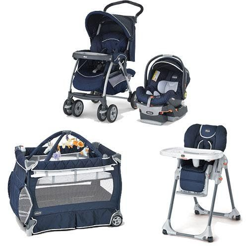 Chicco Pegaso Kit Matching Stroller System High Chair and