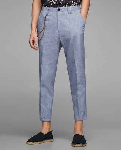 Image 2 of CARROT FIT LINEN PANTS from Zara