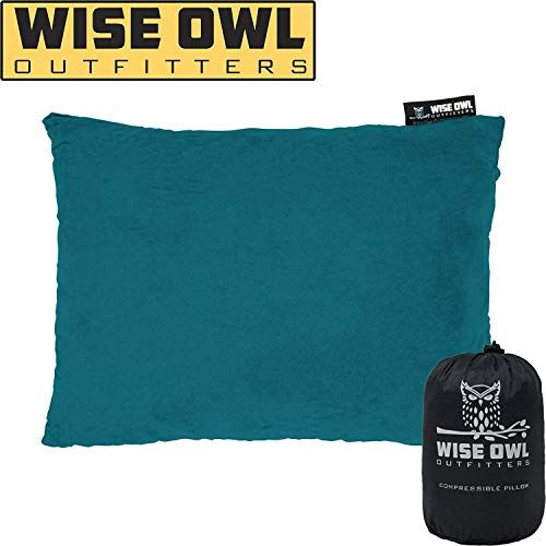 Wise Owl Outfitters Camping Pillow Compressible Foam Pillows Use When Sleeping In Car Plane Travel Hammock Bed Camp Adults Kids Compact Small Larg With Images
