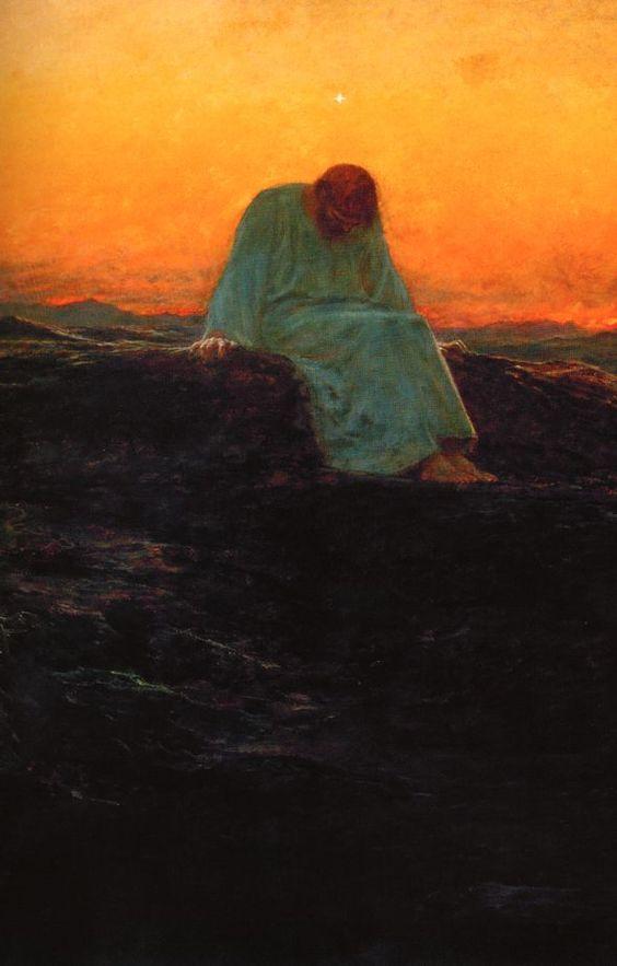 A tentação de Cristo na montanha (Briton Riviere)