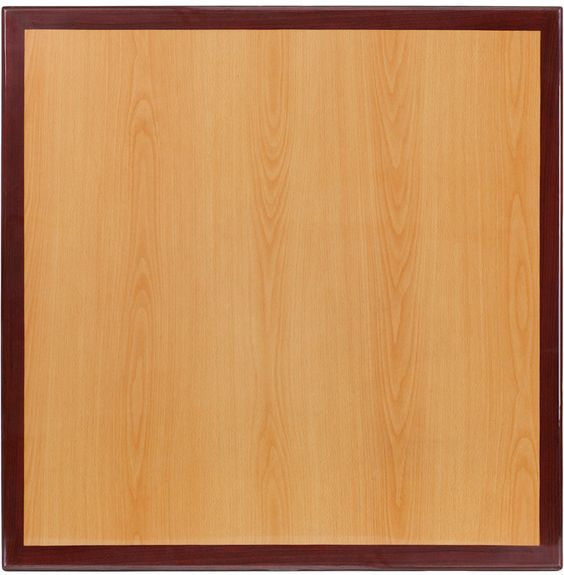 Flash Furniture TP-2TONE-3636-GG 36'' Square Two-Tone Resin Cherry and Mahogany Table Top