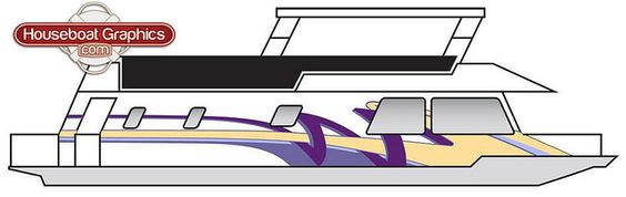 Houseboatgraphicsvinylstripingdesign Graphics And Mockup - Houseboats vinyl decals