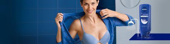 Geschmeidige Haut einfach wie nie: Geschmeidige Haut einfach wie nie: Die NIVEA In-Dusch Body Lotion und Body Milk pflegen die Haut schnell und einfach unter der Dusche: auftragen, abduschen, fertig! Für 24 h Feuchtigkeit. Und Sie können sich sofort anziehen!