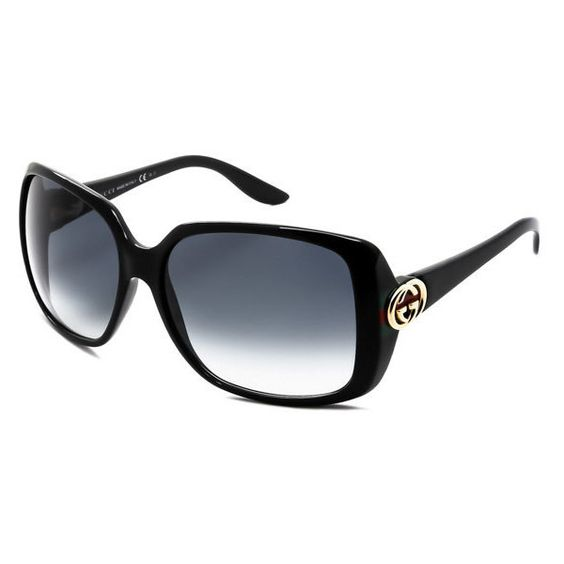 Women's Gucci Rectangle Sunglasses (17980 RSD) ❤ liked on Polyvore featuring accessories, eyewear and sunglasses