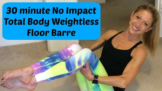 Floor Barre Workout Video for Fitness Weight Loss and Health