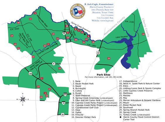 Precinct 4 Parks Map  Houston Bound  Pinterest  Houston
