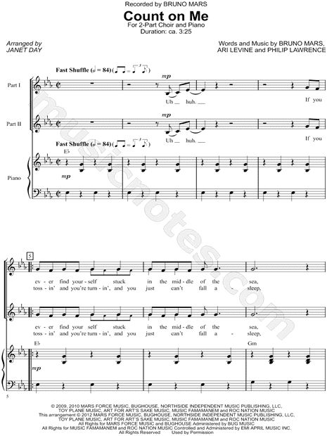 Count On Me Bruno Mars Guitar Chords