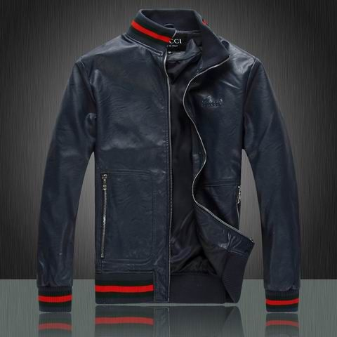 Cheap Gucci Leather Jackets for Men in 55193 $118 USD- [IB055193