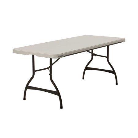 Lifetime 6 Foot Nesting Folding Table 80712 White Granite