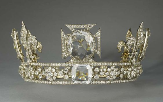 The Queen Consort's crown created for Queen Mary.  2200 diamonds and the Koh I Noor diamond on top.